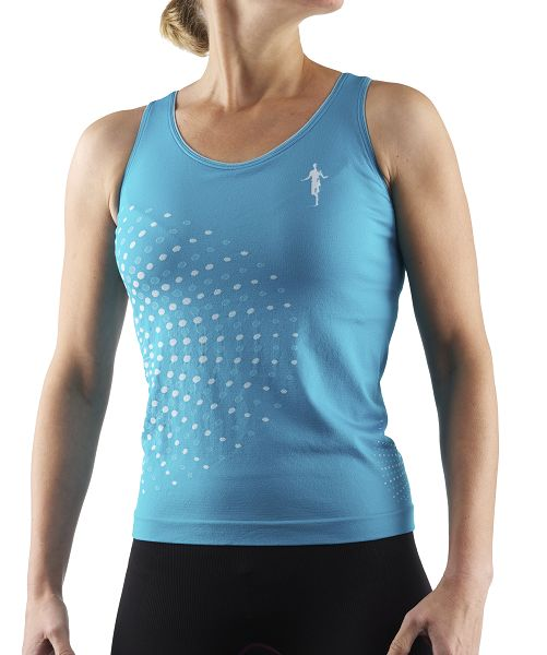 Produktfoto thoni mara runner´s wear DAMEN Basic Top mit Bra smaragd